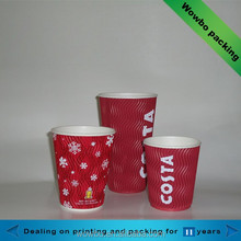 12oz Hot drink PE coated corrugated paper cup