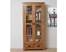 solid wood furniture oak tall wood display cabinet