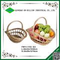 Barato a granel tejida regalo cesta de mimbre venta