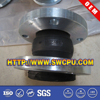 Custom expansion flexible rubber joint flange for pipe fittings