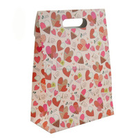 100% creative recycled paper gift bags with die cut handle