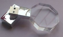 promotional gift Oem crystal swivel usb flash drive with logo with keyring