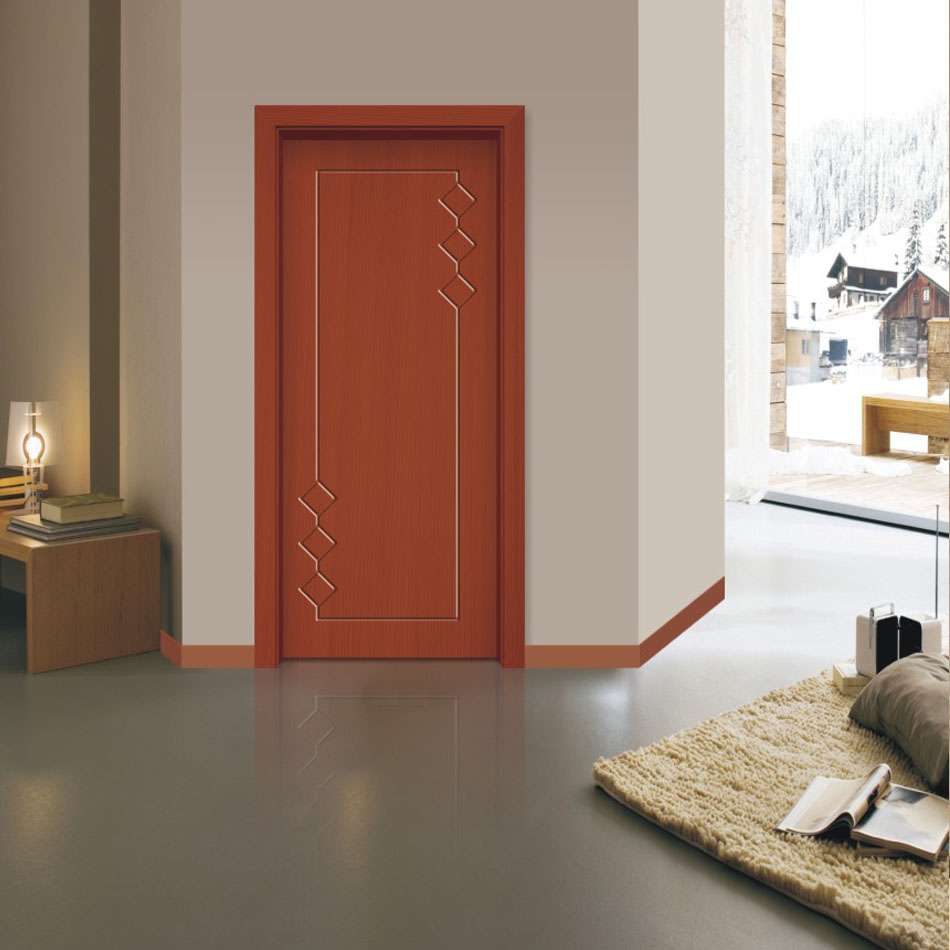 Solid wood entry model main door with painting
