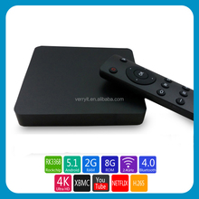 4K Android tv box Android 5.1 xbmc box RK 3368 Octa-core android set top box