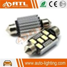 Newest 6SMD, 12V,smd5630-CANBUS-FESTOON, squre aluminum precision led car light