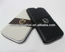luxury business leather case for samsung galaxy s4 with card holder made of high quality