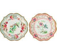 Pretty Floral Vintage Style serving platters plates 30cm diameter