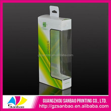 plastic clear soft folding packaging boxes with auto lock bottom for electronics