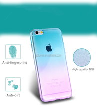 Ultra slim and thin gradual change color translucent soft TPU gel silicon for iPhone 6/ 6 plus