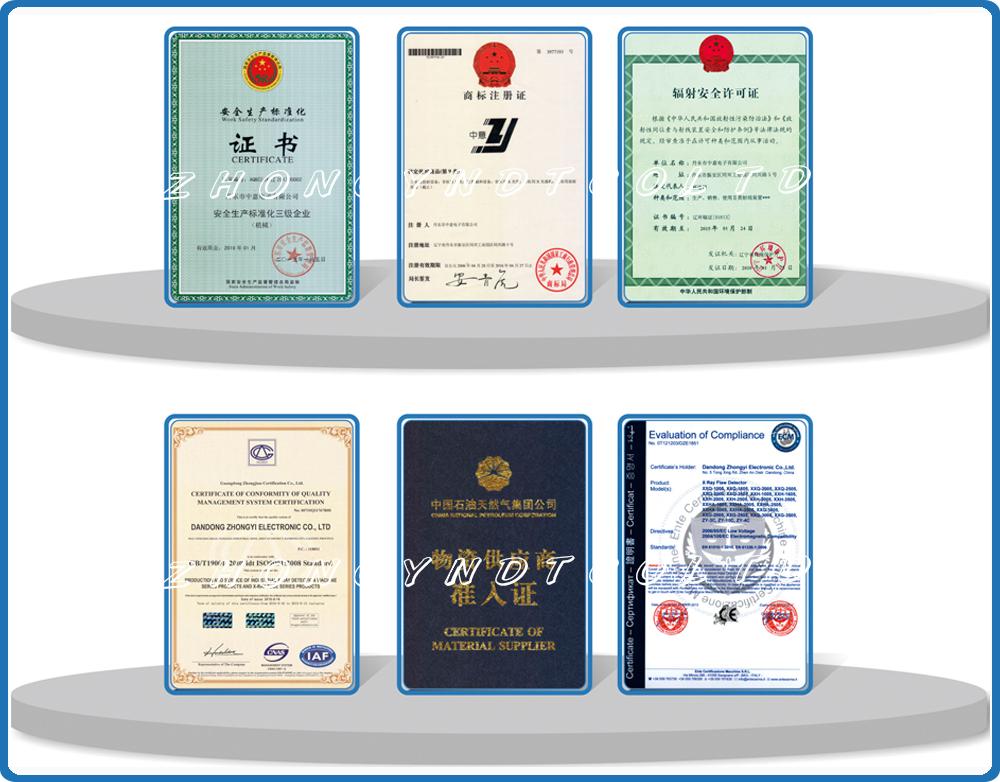 ZHONGYI NDT CO., LTD CERTIFICATES-1
