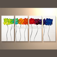 venta al por mayor mano de grupo imagen de la pared florales pintura del arte