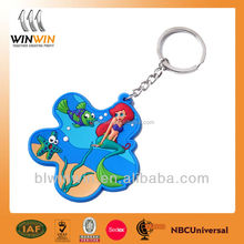 plastic pvc keychain,custom cartoon shape 2d/3d soft pvc keychain