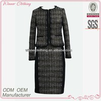 2013 New Arrivals Round/Boad Neck Formal/Mature Long Skirt Office Ladies Suit Design