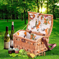 portable basket for picnic, wicker wine basket, made up of wicker