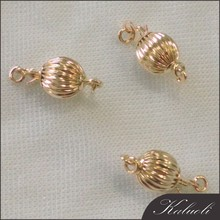 Wholesale rose14K gold jewelry screw clasp
