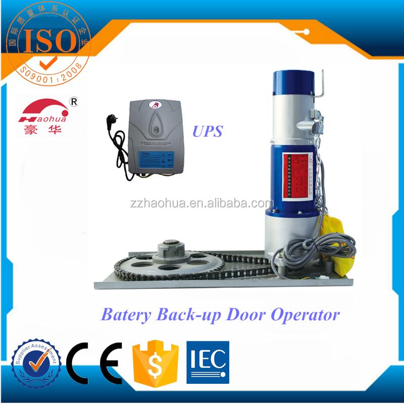 800kg backup battery dc24v rolling shutter door motor for Roller shutter motor price