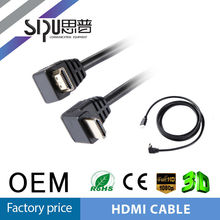 SIPU high quality male to male 90 degree hdmi 1.4 cable hdmi a euroconector