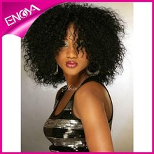 Short Mongolian Afro Kinky Curly Full Lace Wig