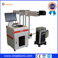 China RF tube 30w co2 laser marking machine for paper cutting fabric printing