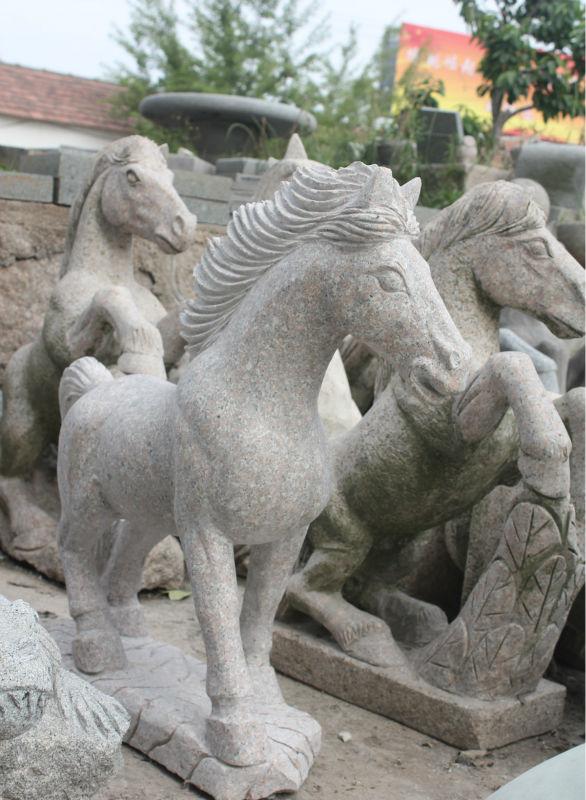 la vida china tamao de jardn de piedra de granito estatua de len para la