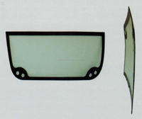 Bus double-curvature rear windshield glass