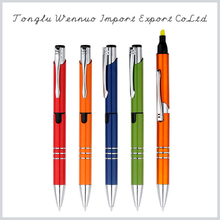 Latest design novelty promotional highlighter with pen