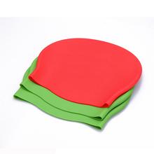 fashion food grade printing silicone swim cap,silicone ear swim cap