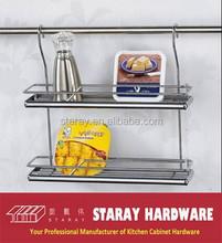 HCJ320B Kitchen iron metal hanging spice rack