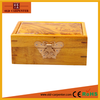 Luxury Envrionmental friendly original handmade Gold Camphorwood Phoebe Microphylla art minds wood box jewelry display case