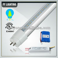 intelligent lighting cUL UL approved emergency t8 led tube with battery backup 120lm/w 2ft to 8ft