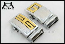 Gold and silver palted alloy automatic interchangeable belt buckles