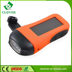 Made in china high brightness hand charge torch light 3 led dynamo torch