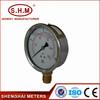 liquid filled economy type high temp pressure gauge