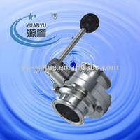 hot sale professional Sanitary stainless steel butterfly valve(SMS,ISO,DIN,RJT standard)