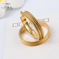 Custom Jewelry Stainless Steel Simple Gold Hoop Earring Designs For Women