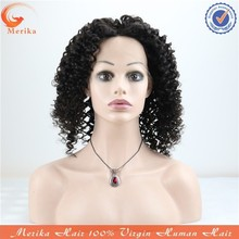 High quality full lace afro kinky human hair wig,natural hairline cheap virgin Brazilian human hair wig