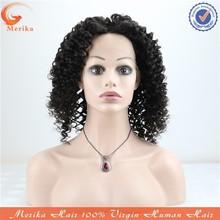 High quality full lace afro kinky human hair wig,natural hairline cheap virgin Brazilian human hair wig