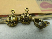 11x16mm Antique Bronze Lovely Halloween Pumpkin Face Charm Pendant C3869 charm