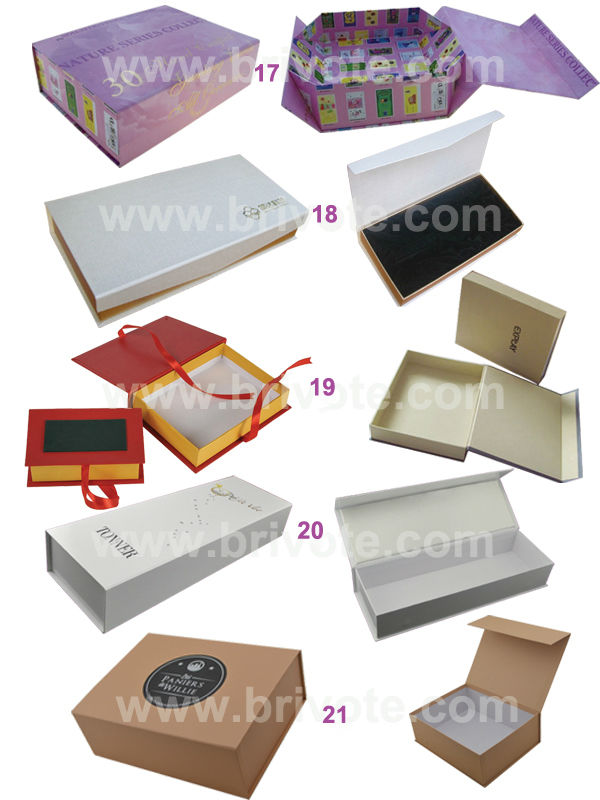 2014 Luxury Custom Magnet closure Paper gift box