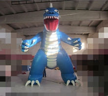 airport advertising Godzilla inflatable characters