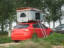 Outdoor camping products hard shell car roof top tent cheap trailer tents