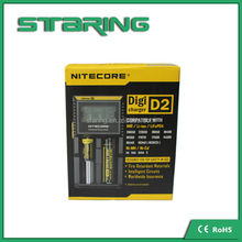 Best selling nitecore d2 18650 battery LCD battery charger intelligent I2 I4 D4 D2 D4 charger Nitecore charger
