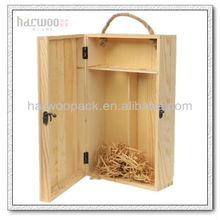 Wine Case With Glasses Wooden Box