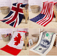 wholesale 100% cotton custom printed beach towel
