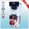 Digital Touch Screen Frozen Yogurt Rainbow With Jam Centre Soft Ice Cream Machine