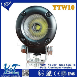 commercial electric black 12V 10w led bike light spot flood beam for scooter ATV UTV e-bike
