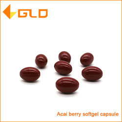 GMP certified nature herbal supplemnets acai berry softgel capsule