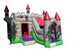 Premium Knights Bounce and Slide, Unique design combo inflatable slide bouncy castle