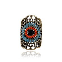 Anel Masculino Bohemia Vintage Rings for Women Aliancas De Casamento Fine Sapphire Jewelry Anillos Bague Femme Anelli Donna