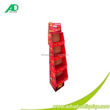 China POP OEM Cardboard Chocolate, Cookies Display Rack For Candy